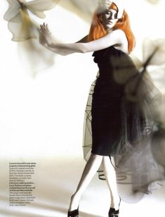 avant-garde fashion photography - Karen Elson by Nick Knight for Vogue UK-October'2008