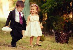 im gonna make my flower boy & girl dress like they are getting married. HEHEE