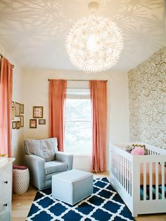 Modern Nursery From CoCoCozy - If I ever get a girl.... sigh......