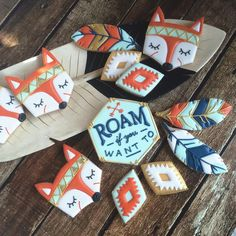 Roam if you want to! Tribal cookies by Bee Sweet Confections