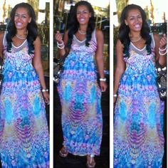 Pastel colored maxi...  Super cute maxi, only worn one time ready for a new home Forever 21 Dresses Maxi