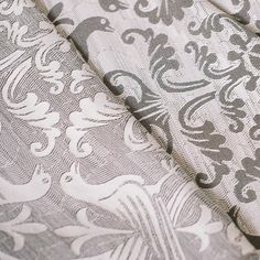 grey.quenalbertini: Grey & white love birds fabrics, Pavo Textiles