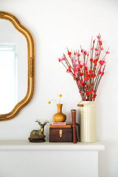 Paper flowers = easy way to brighten up your home.