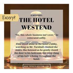 THE HOTEL WESTEND: A Mystery by Ashley Lynch-Harris, 5 Stars  www.TheHotelWestend.com