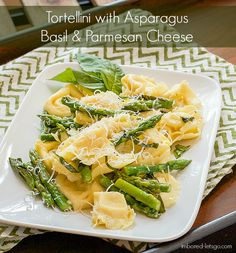 Tortellini with Asparagus, Basil & Parmesan Cheese