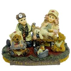 Amazon.com - Boyds Dollstone The Animal Hospital Jessica and Timmy #3532 - Collectible Figurines+