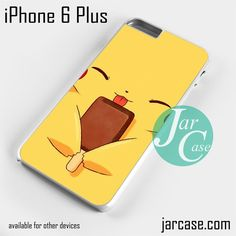 Pokemon Pikachu eating ice stick Phone case for iPhone 6 Plus and other iPhone devices