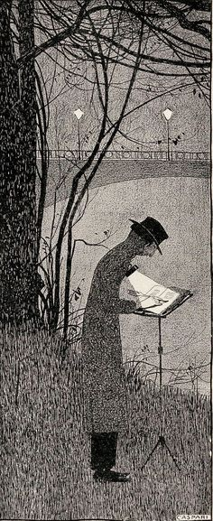 Walther Caspari, Night Writer from Issue Number 32 (1898) Jugend