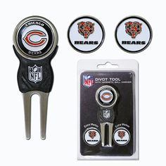Chicago Bears NFL Divot Tool Pack w/Signature tool