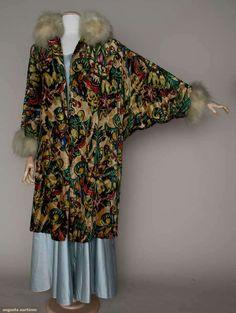 Velvet Print & Lame Opera Coat, C.1927, Augusta Auctions, March 21, 2012 NYC, Lot 275