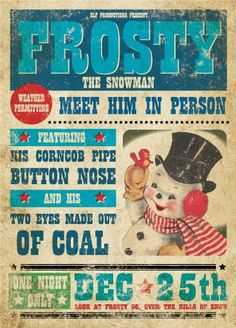 Vintage Christmas Retro Posters by pauloandlulu on Etsy