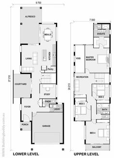 Foxtail - Small Lot House Floorplan by http://www.buildingbuddy.com.au/home-designs-main/small-lot-house-plans/: