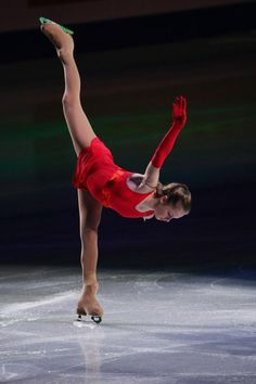 Julia Lipnitskaia of Russia performs her routine in the exhibition during ISU World Figure Skating Championships at Saitama Super Arena on March 30, 2014 in Saitama, Japan.