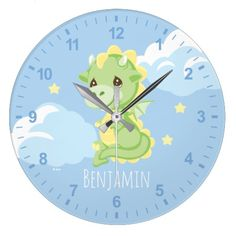 Precious Prince Dragon | Add Your Name Large Clock