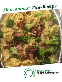 Recipe Creamy Bacon and Broccoli Fettucine by Angelic Fire, learn to make this recipe easily in your kitchen machine and discover other Thermomix recipes in Pasta & rice dishes. Thermomix Recipes Healthy, Healthy Cooking, Rice Dishes, Food Dishes, Risotto Dishes, Pasta Recipes, Cooking Recipes, Bellini Recipe, Bacon Pasta