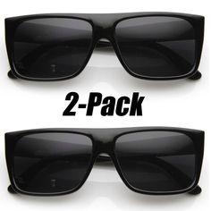9d8debdb905 Classic Old School Eazy E Square Flat Top OG Loc Sunglasses