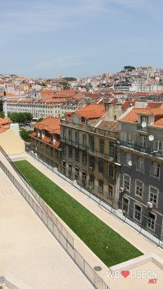 Lisbon Baixa-chiado neighbourhood view from Santa Justa Lift