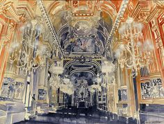 making of Opera de Paris by Maja Wrońska, via Behance