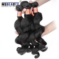 Msbeauty Grade 8A Malaysian Loose Wave Virgin Hair 100% Human Hair