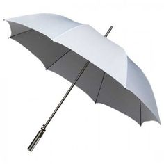 Aluminium Golf Sized Wedding Umbrella - White. Ideal for two golfers getting married. Perfect for virtually any combination of ladies and/or gents. An umbrella you can use afterwards on the golf course, unlike the wedding dress...