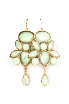 Danica Chandelier Earrings in Soft Illume Mint on Emma Stine Limited I Love Jewelry, Jewelry Box, Jewelry Accessories, Jewlery, Fashion Earrings, Fashion Jewelry, Buy Earrings, Earrings Online, Green Earrings