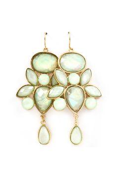 Danica Chandelier Earrings in Soft Illume Mint