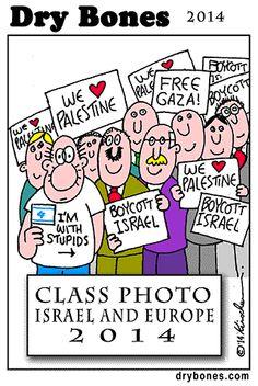 Kirschen, Dry Bones cartoon,Shuldig, Europe, plo, Palestine, appeasement, 2014,
