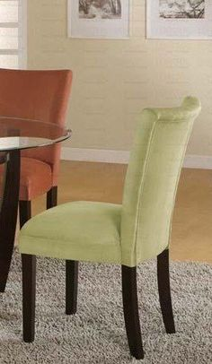 black friday 2014 set of 2 parson dining chairs light green microfiber