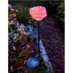 decorative solar rose light