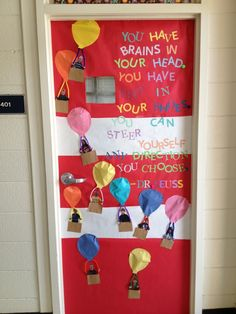 Oh the places you'll go door decoration