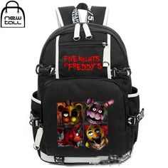 Five Nights At Freddy's Freddy Backpack Chica Foxy Bonnie FNAF Shoulder Bag horror game indie fan