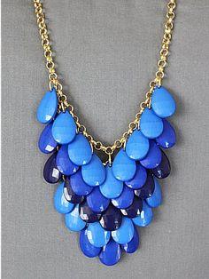 Blue Statement Necklace