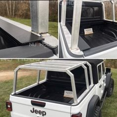 Our newest option for the Gladiator! Aluminum coiling cover and cab height bed rack. American Expedition Vehicles, Truck Accesories, Expedition Trailer, Motorcycle Trailer, Diy Canopy, Roll Cage, Ram Trucks, Fj Cruiser, Gladiators