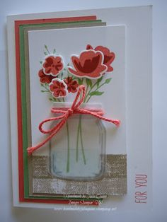 handmade by Julia Quinn - Independent Stampin' Up! Demonstrator: Stampin' Up! Jar of Love FMS #240