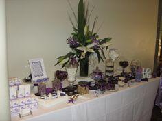 Purple theme candy buffet