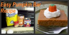 If you want something other than more candy for your desserts on Halloween or for a fall Harvest party then try this easy pumpkin bar recipe straight from my mom!
