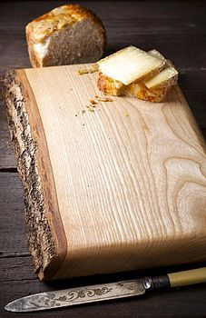 gorgeous waney edged chopping board
