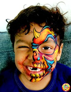 """Monster Face Painting by artist Lenore Koppelman aka """"The Cheeky Chipmunk"""""""