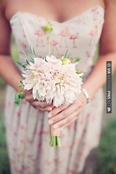 printed bridesmaids dresses + unique bouquets | CHECK OUT MORE IDEAS AT WEDDINGPINS.NET | #weddings #bridesmaids #bridal #dresses #fashion #forweddings