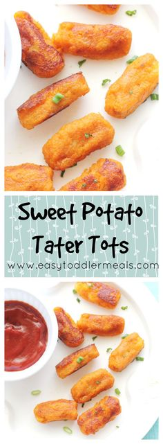 The better-for-you tater tot! These tasty sweet potato tater tots are packed with nutrients and perfect for picky toddlers