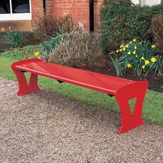 Metro™ Bench is stylish and modern with an all-steel construction. Available in a choice of colours. #Seating #Contemporary #Bench #GlasdonUK