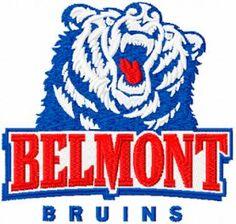 Belmont Bruins logo machine embroidery design $5 embroideres.com
