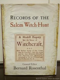 The Salem Witch Museum's presents the Salem Witch Trials of one of the most important and tragic events in American history.