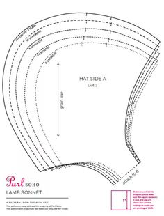 Posie: Rosy Little Things — Storybook Woods Baby Bonnet Sewing Pattern - AmigurumiHouse Sewing Hacks, Sewing Crafts, Sewing Projects, Sewing For Kids, Baby Sewing, Baby Bonnet Pattern Free, Clothing Patterns, Sewing Patterns, Baby Bonnets
