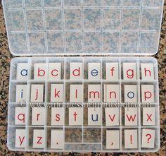 Montessori moveable alphabet diy ideas