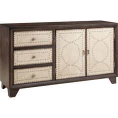 Set out a brunch buffet on Sunday morning and rest trays of cocktails at your next soiree with this handsome sideboard, showcasing contrasting door facings a...
