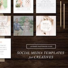 Take a closer look at how our latest set of social media templates can help your brand stand out and attract your ideal clients! Make your next Instagram post, blog post, or inspiring quote reflect your brand. Create cohesive marketing materials without the high price tag!
