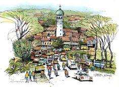 James Richards Sketchbook: Kenya: A Transformational Experience Architecture Sketchbook, Architecture Art, James Richards, Street Pictures, City Sketch, Travel Sketchbook, Building Sketch, Perspective Art, Sketch Inspiration