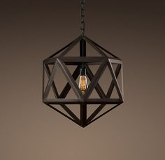 Geometric pendant light  Restoration Hardware