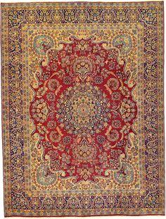 Red 9' 11 x 13' 1 Kerman Persian Rug | Persian Rugs | eSaleRugs